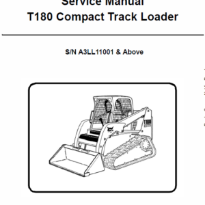 Bobcat T180 Compact Loader Service Manual