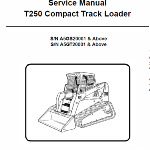 Bobcat T250 Loader Service Manual
