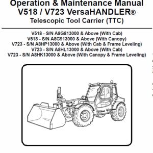 Bobcat V518 VersaHANDLER Telescopic Service Manual
