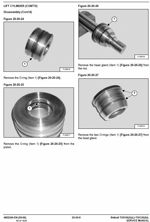 Bobcat T35100, T35100S, T35100L, T35100SL, T35120L, T35120SL Telescopic Manual