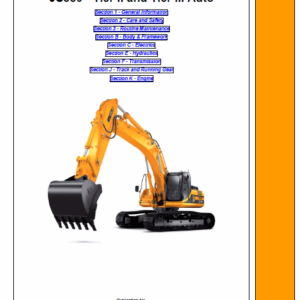 Jcb Js330 Tier 2 And Tier 3 Auto Tracked Excavator Service Manual