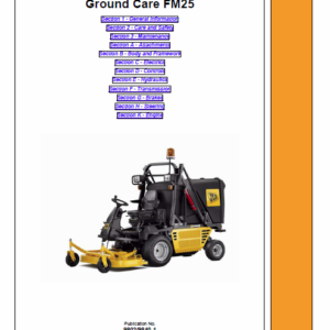 JCB FM25 Mower Service Manual