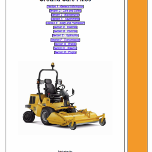 JCB FM30 Mower Service Manual