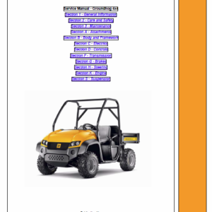 JCB Groundhog 4×4 Utility Vehicle Service Manual