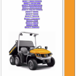 JCB Groundhog 6×4 Utility Vehicle Service Manual