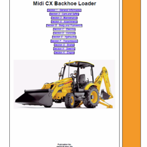 JCB Midi CX Backhoe Loader Service Manual