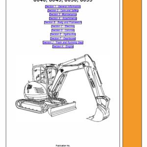JCB 8040ZTS, 8045ZTS, 8050ZTS, 8055ZTS Mini Excavator Service Manual
