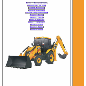 JCB 3DX Backhoe Loader Service Manual