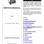 JCB 3CX Tier 2, Tier 3 Backhoe Loader Service Manual
