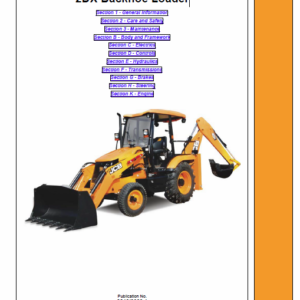 JCB 2DX Backhoe Loader Service Manual