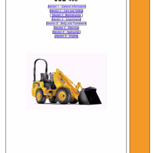 JCB 403 Wheeled Loader Service Manual