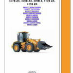 JCB 407BZX, 408BZX, 409BZX, 410BZX Wheeled Loader Service Manual