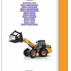JCB TM320 Wheeled Loader Shovel Service Manual