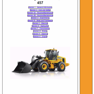 JCB 427, 437, 457 T4i Wheeled Loader Shovel Service Manual