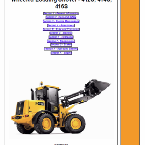 JCB 412S, 414S, 416S Wheeled Loader Shovel Service Manual