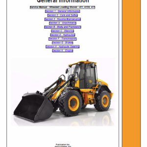 JCB 411, 413S, 417 Wheeled Loader Shovel Service Manual