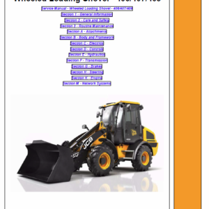 JCB 406, 407, 409 Wheeled Loader Shovel Service Manual