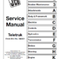 Jcb 2.0, 2.5, 3.0, 3.5d Tlt Lift Teletruk Service Manual