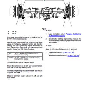 JCB Fastrac 4000 Series Tier 4 Service Manual