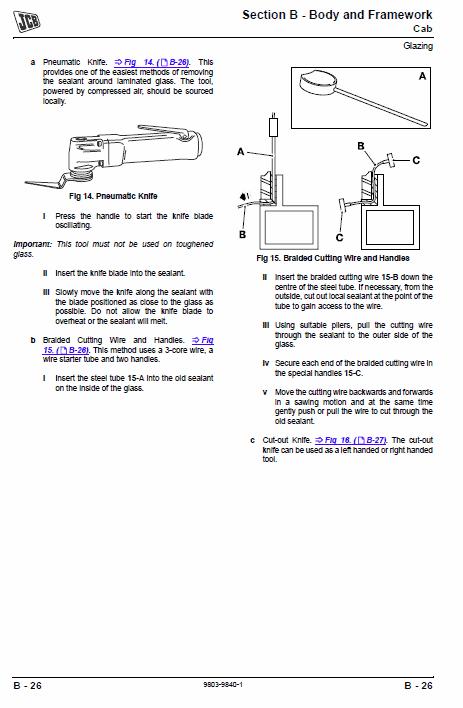 JCB 354, 360 Tractor Service Manual
