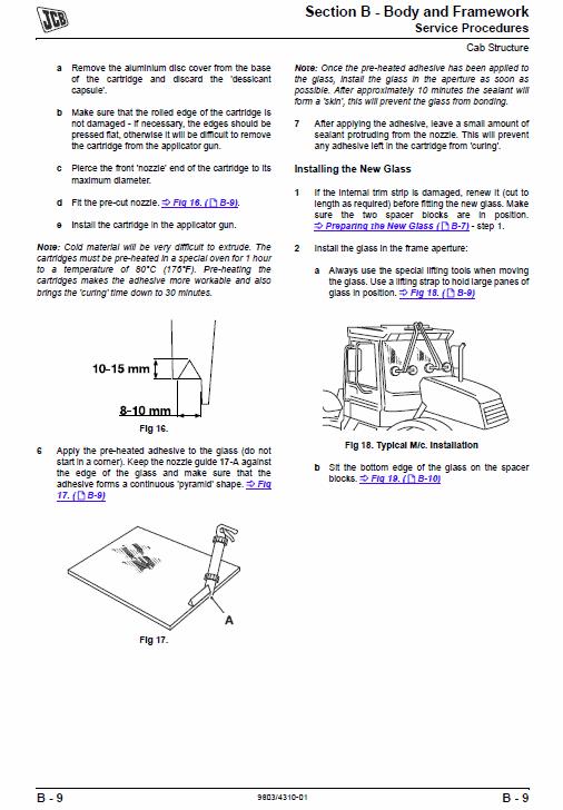 JCB 406, 409 Wheeled Loader Shovel Tier 2/3 Deutz Service Manual