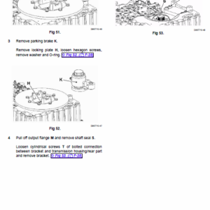 JCB 422ZX Wheeled Loader Shovel Service Manual