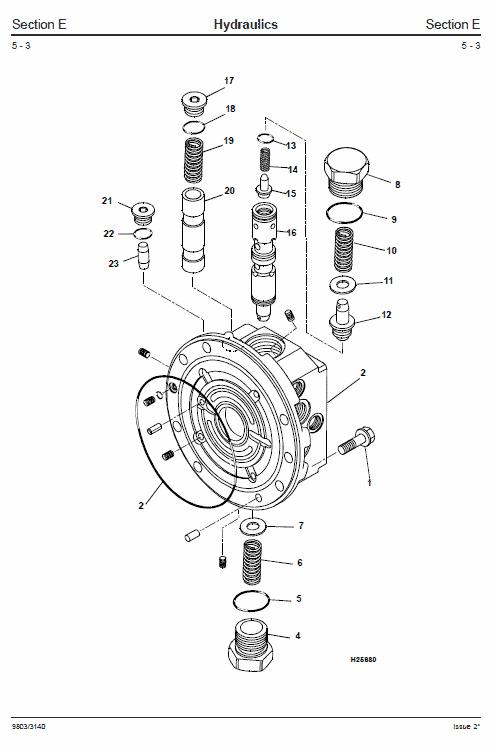 JCB 802, 802.4, 802 Super Mini Excavator Manual