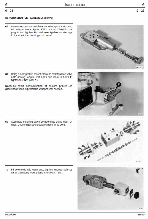 JCB 406, 407, 408, 409 Wheeled Loader Shovel Service Manual