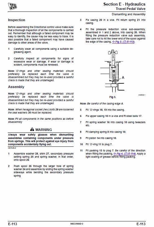 Jcb Js360 Tier 3 Auto Tracked Excavator Service Manual