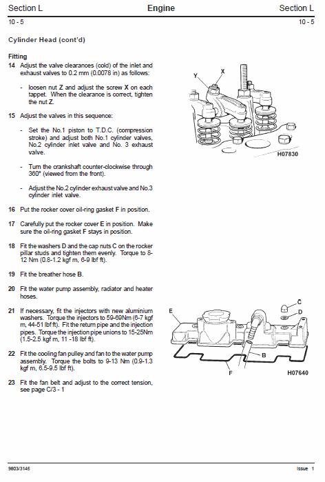 JCB 802-7, 803, 804 Plus & Super Mini Excavator Service Manual