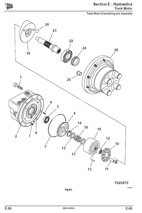 JCB 8014, 8016, 8018, 8020 Mini Excavator Service Manual