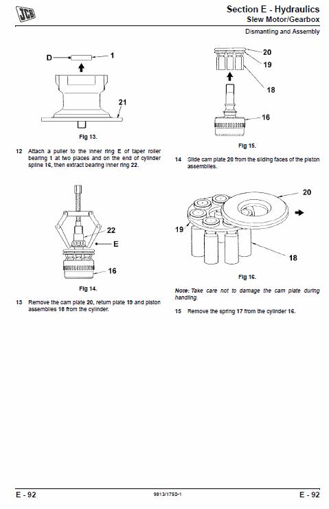 JCB 8061 Mini Excavator Service Manual