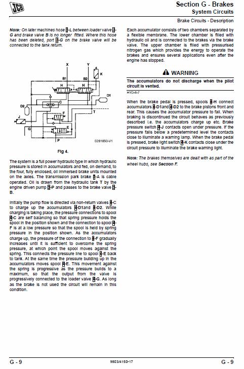JCB 411, 416 Wheeled Loader Shovel Service Manual