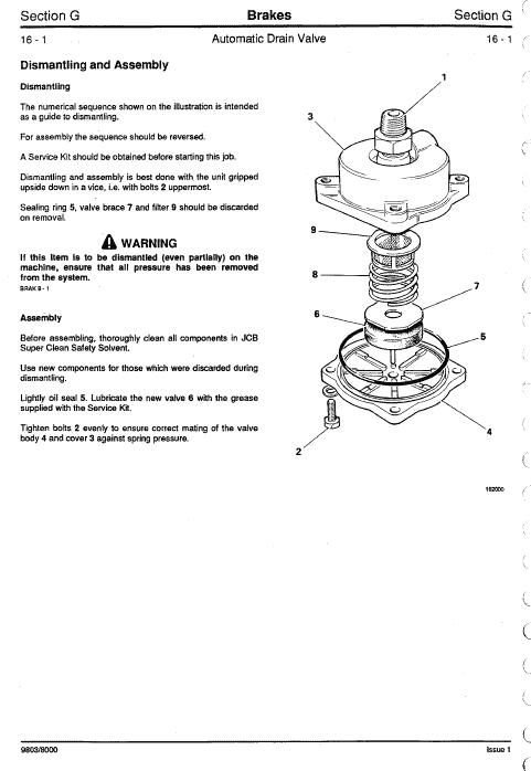 JCB 125, 135, 145, 150, 155, 185 Fastrac Service Manual