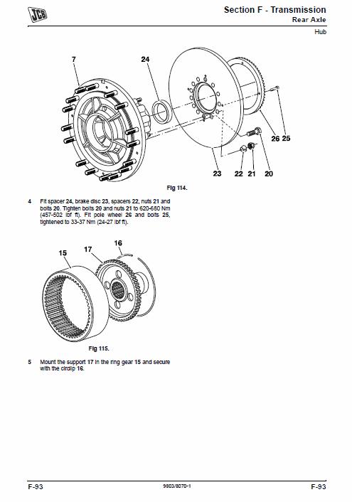 JCB 8250 Fastrac Service Manual