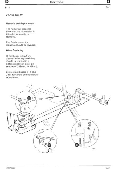 JCB 2D, 2DS, 3, 3C, 3CS, 3D, 700 Backhoe Loader Service Manual