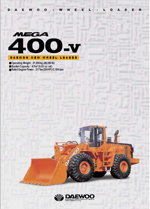 Daewoo Mega M400-V Loader Service Manual