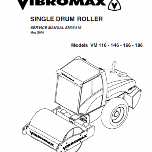 Jcb Vibromax Vm116,146,166,186 Single Drum Roller Service Manual