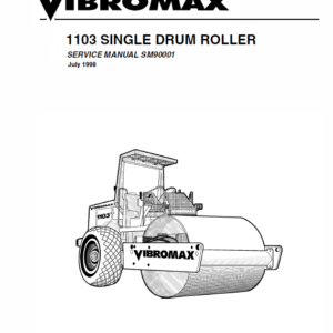 JCB Vibromax 1103 Single Drum Roller Service Manual
