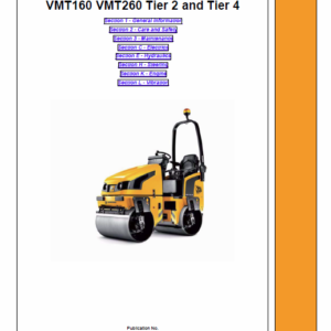 JCB Vibromax VMT160, VMT260 Tier 2 and Tier 4 Service Manual
