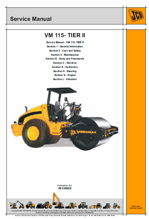 Jcb Vibromax Vm115 Tier 2 Service Manual