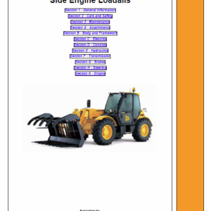 Jcb Telescopic Handlers Loadalls 530-70 – 540-170 Series Service Manual