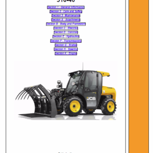 JCB 516-40 Loadall Telescopic Handlers Service Manual