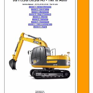 Jcb Js115, Js130, Js145 Tier 3 Auto Excavator Service Manual
