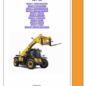 JCB 527-58 Loadall Telescopic Handlers Service Manual