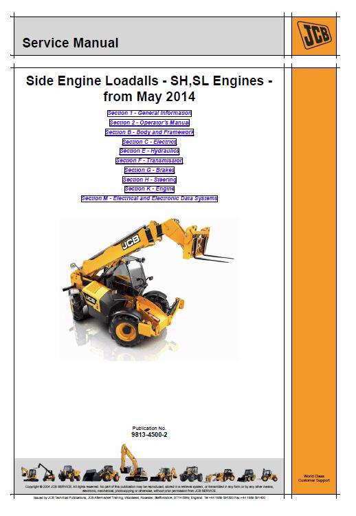 Jcb 531-70, 535-95, 536-60, 541-70, 533-105, 536-70, 526-56, 550-80 Loadall Manual