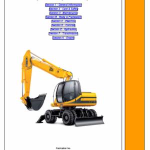 Jcb Js130w, Js145w, Js160w, Js175w Wheeled Excavator Service Manual