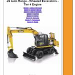 JCB JS145W, JS160W, JS175W, JS20MH Tier 4 Wheeled Excavators Service Manual
