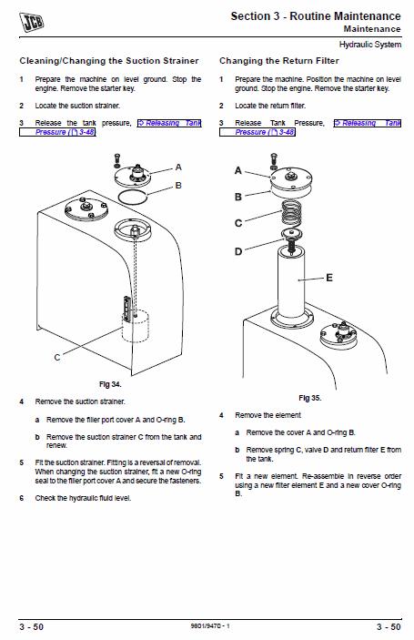 Jcb Js175w Auto Wheeled Excavator Service Manual