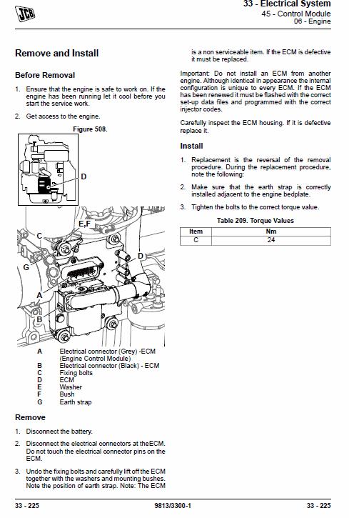 Jcb Vibromax Vm117, Vm137 Tier 3 Service Manual